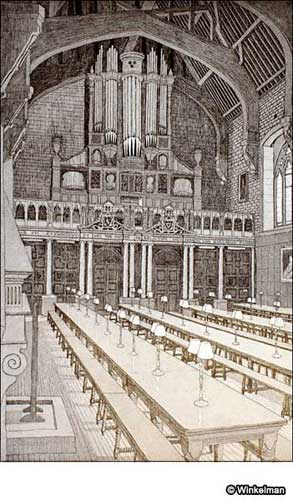 BALLIOL COLLEGE DINING HALL Etching & Aquatint